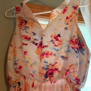 Metaphor Dresses - Floral sleeveless dress